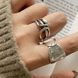 🆕️ 925 Silver Handmade Wide Abstract Band Ring